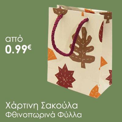 σακουλα φθινοπωρινά φύλλα
