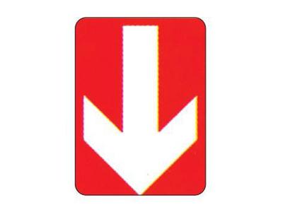 """Επιγραφή """"Κατεύθυνση Προς τα Κάτω"""" 15x20εκ."""