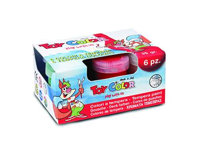 Δακτυλομπογιές 6 Χρωμάτων Toy Color