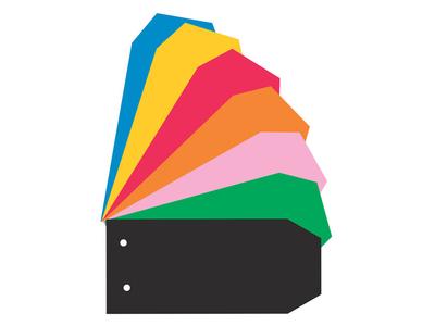 Διαχωριστικά Χρωματιστά Κανσόν Γλώσσα Salko