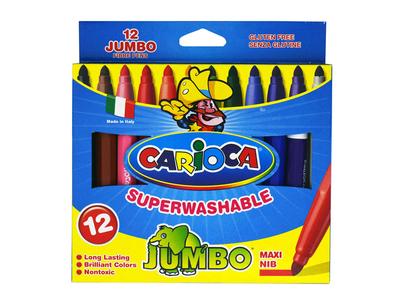 Μαρκαδόροι Χοντροί 12τμχ Jumbo Carioca