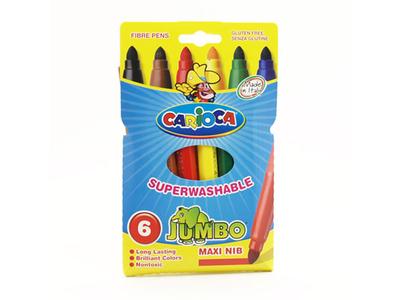 Μαρκαδόροι Χοντροί 6τμχ Jumbo Carioca