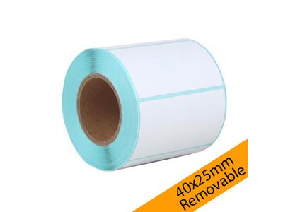Ετικέτες Αυτοκόλλητες Θερμικές Removable 40x25mm