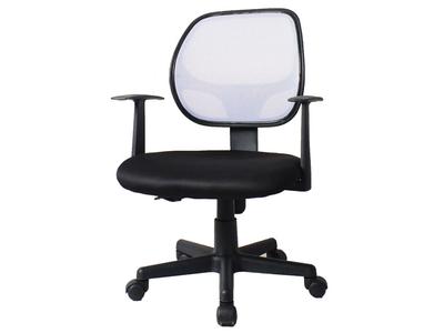 Καρέκλα τροχήλατη μαύρη με γκρι δίχτυ στην πλάτη