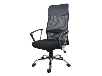 Καρέκλα τροχήλατη μαύρη με δίχτυ στην πλάτη