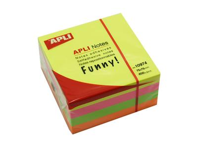 APLI Αυτοκόλλητα Χαρτάκια Neon 75x75mm