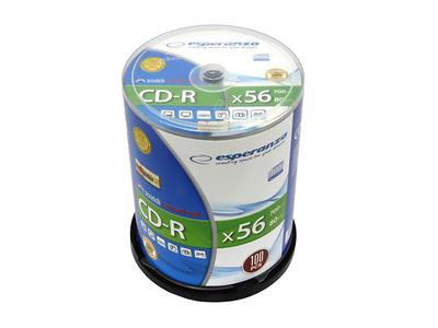 Esperanza CD-R 700mb 80min 56x 100τμχ