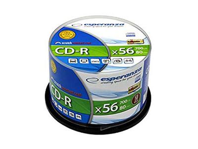 Esperanza CD-R 700mb 80min 56x 50τμχ