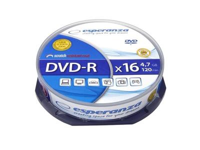 Esperanza DVD-R 4.7gb 10τμχ