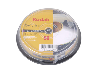Kodak DVD-R 4.7gb 10τμχ