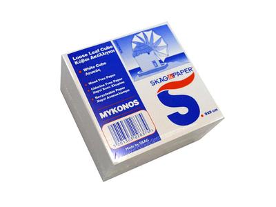 Skag Μύκονος Κύβος Λευκός Σημειώσεων 9x9cm