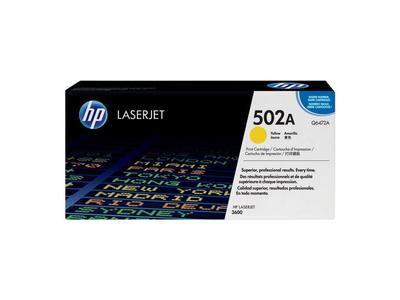 Toner Laser HP 502A Yellow