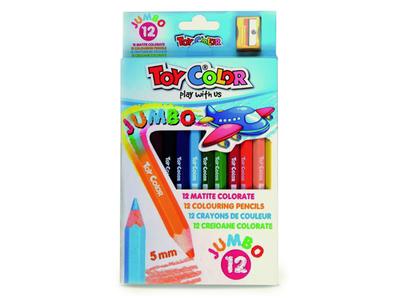 Toy Color Ξυλομπογιές Χοντρές 12 Χρωμάτων