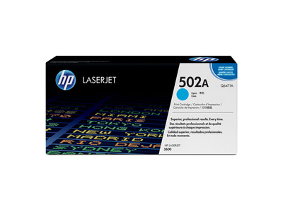 Toner Laser HP 502A Cyan