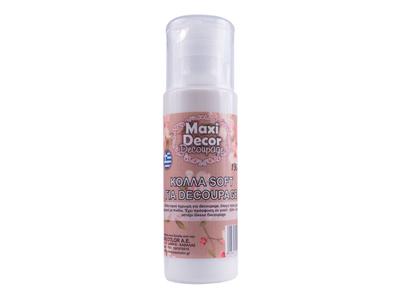 Maxi Decor Κόλλα Soft Decoupage για Ρυζόχαρτο 130ml