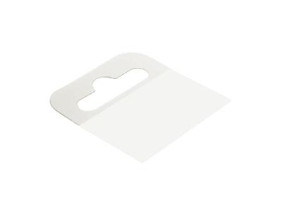 Αυτοκόλλητο Πλαστικό Κρεμαστάρι με Τρύπα 4,4x3,6