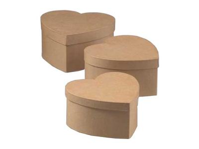 """Κουτιά Οικολογικά """"Καρδιά"""" για Διακόσμηση Σετ"""