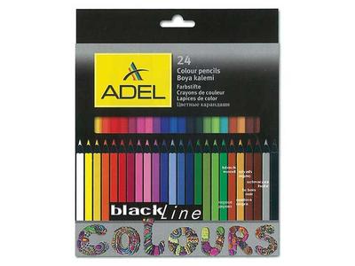Ξυλομπογιές Adel Blackline 24τμχ