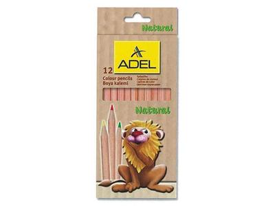 Ξυλομπογιές Adel Natural 12τμχ