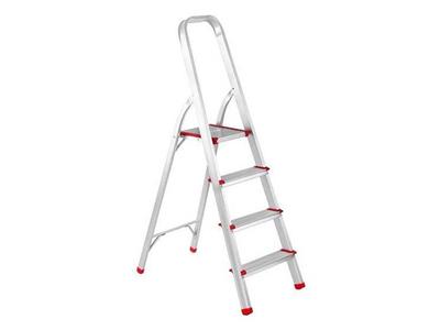 Σκάλα Αλουμινίου Με 4 Σκαλοπάτια Ασημί Υ140εκ