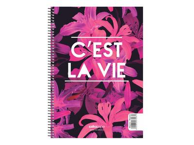 Τετράδιο Μονό Σπιράλ C'est La Vie 21x29