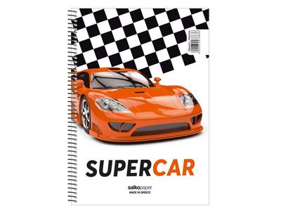Τετράδιο Μονό Σπιράλ Supercars 17x25