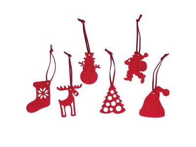 Χριστουγεννιάτικα Στολίδια Κόκκινα Κοκτέηλ 6 Σχέδια