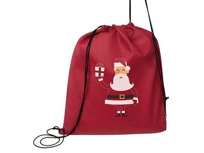 Χριστουγεννιάτικη Τσάντα Γυμναστηρίου Κόκκινη Υ42x34εκ