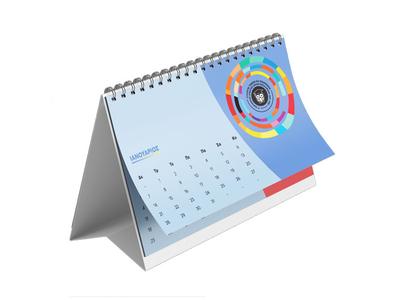 Ημερολόγιο Επιτραπέζιο Δέλτα 14x21 13 Φύλλα - Εκτύπωση Δύο Όψεων