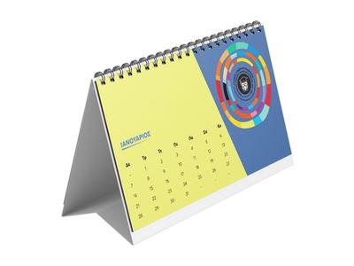 Ημερολόγιο Επιτραπέζιο Δέλτα 14x21 7 Φύλλα - Εκτύπωση Μίας Όψης
