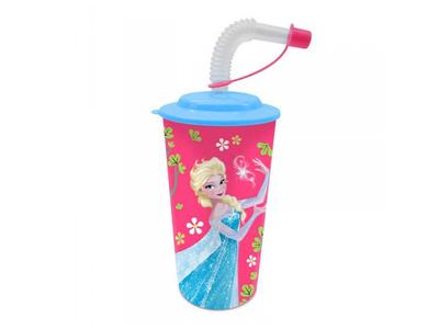 Πλαστικό Ποτήρι με Καλαμάκι Frozen
