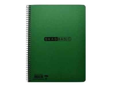 Τετράδιο Σπιράλ Skag Basic πρασινο