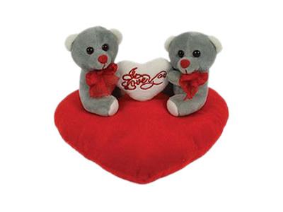 Αρκουδάκι σε Κόκκινη Καρδιά (3 Χρώματα)