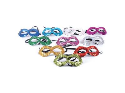 Μάσκες με Glitter σε Διάφορα Χρώματα 3τεμ