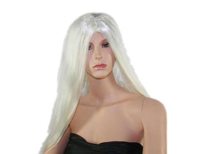 Περούκα Μακριά Μαλλιά Άσπρα
