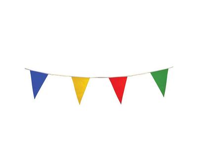 Χρωματιστά Σημαιάκια Γιρλάντα 9 Μέτρα 6τεμ