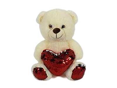 Αρκουδάκι Λευκό με Καρδιά