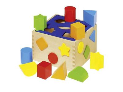 Goki Κύβος Ταξινόμησης Σχημάτων Ξύλινος