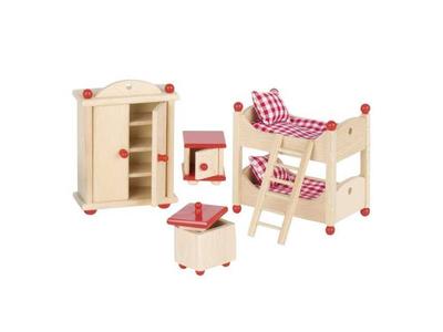 Goki Σετ Παιδικό Υπνοδωμάτιο Ξύλινο για Κουκλόσπιτο 5τεμ