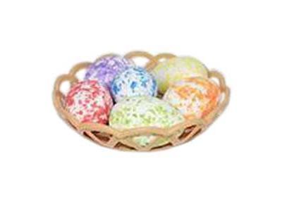 Πασχαλινό Καλαθάκι με 6 Χρωματιστά Αβγά