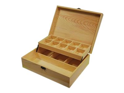 Κουτί Ξύλινο με 2 Επίπεδα και Θήκες