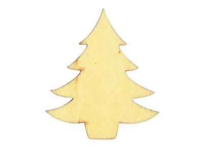 Xριστουγεννιάτικο Δέντρο Ξύλινο 6τεμ