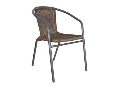 Καρέκλα Σιδερένια με Rattan Γκρι