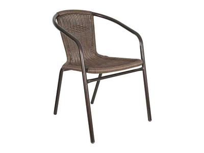 Καρέκλα Σιδερένια με Rattan Μπρονζέ