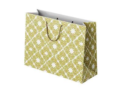 Χάρτινη Σακούλα Αραβικό Μοτίβο Χρυσό