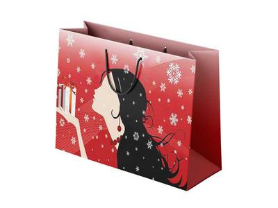 Χάρτινη Σακούλα Κοπέλα με Δώρο