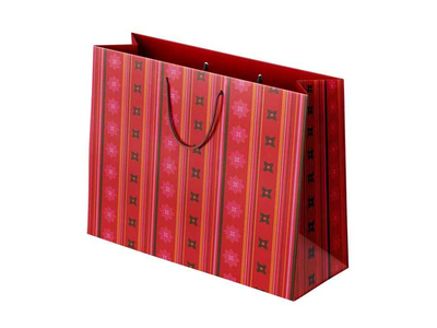 Χάρτινη Σακούλα Κόκκινο Μοτίβο