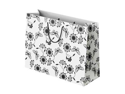 Χάρτινη Σακούλα Luxury Ασπρόμαυρη