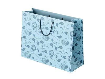 Χάρτινη Σακούλα Luxury Γαλάζια