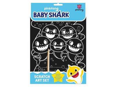 Σετ Χειροτεχνίας Ξυστό Baby Shark